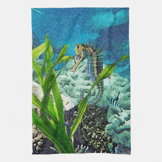 Whimsical Seahorse Kitchen Towel