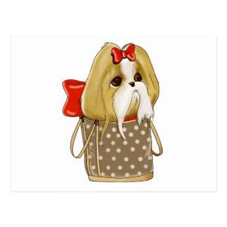 whimsical SHIH TZU DOG Postcard