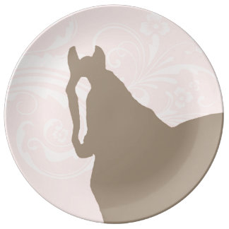 Whimsical Show Pony Horse Pattern Porcelain Plate