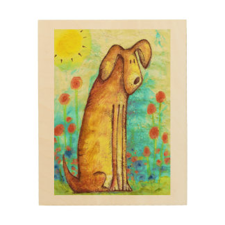 Whimsical Sitting Dog Wall Art