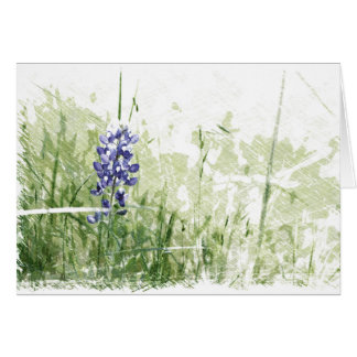 Whimsical Sketch of Bluebonnet Card