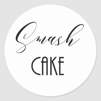 "Whimsical ""Smash Cake"" Classic Round Sticker"