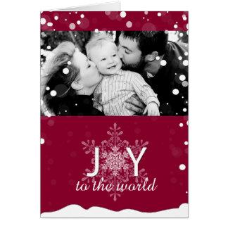 Whimsical Snowfall Christmas Photo Greeting Card