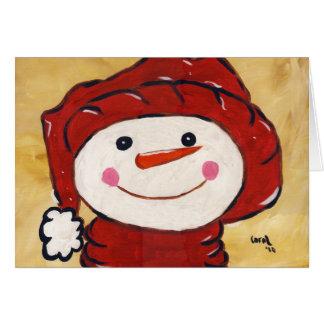 Whimsical Snowman Card