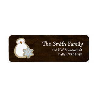 Whimsical Snowman Christmas Return Address Return Address Label