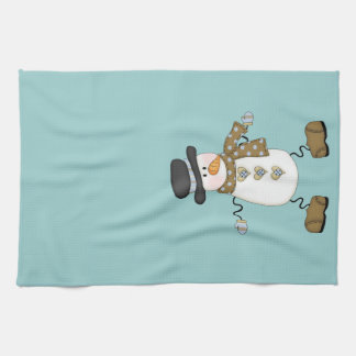 Whimsical Snowman Kitchen Towel