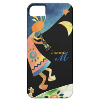 Whimsical Southwest Kokopelli Monogram iPhone 5 Case For The iPhone 5