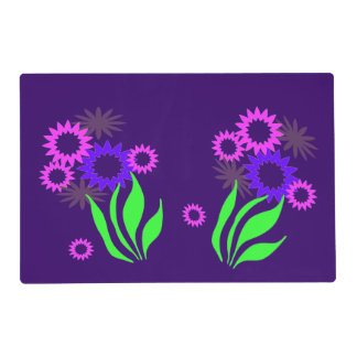 Whimsical Spring Flowers Laminated Placemat