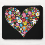 Whimsical Spring Flowers Valentine Cute Heart Love