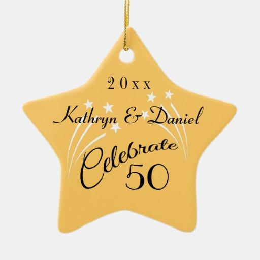 Whimsical Star 50th Anniversary Gifts-Christmas Christmas Tree Ornaments