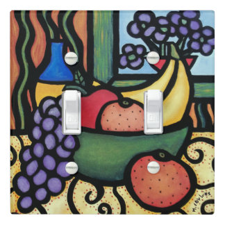 Whimsical Still Life Bright Colors Light Switch Cover