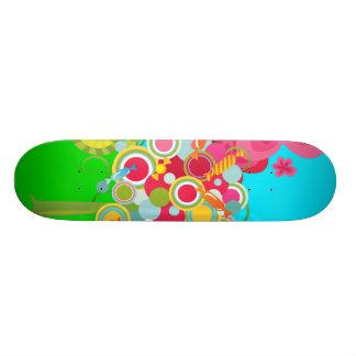 Whimsical Summer Lollipop Tree Colorful Forest Skateboards