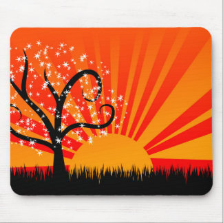 Whimsical Sunburst Mouse Pad