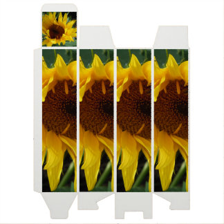 Whimsical Sunflower Wine Box