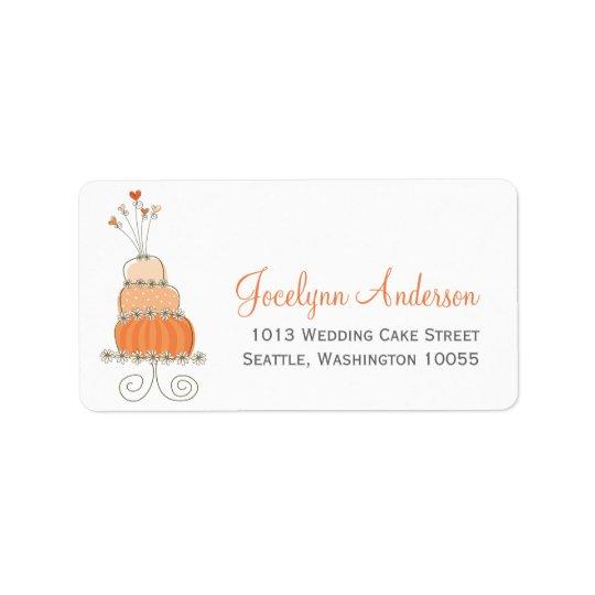 Whimsical Sweet Wedding Cake Custom Address Labels