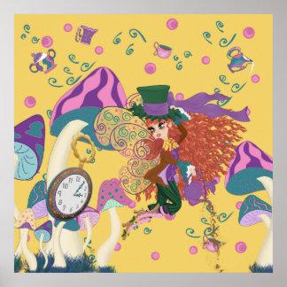 Whimsical Tea Party Fairy Parody Print