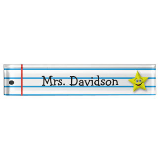 Whimsical Teacher's Custom Desk Nameplate