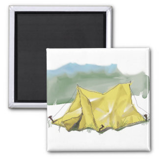 Whimsical Tent Illustration Magnet