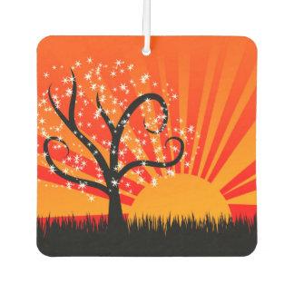 Whimsical Tree and Sunshine Car Air Freshener
