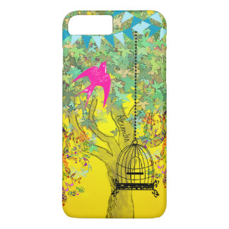 Whimsical Tree Birdcage Bright Color Musical Notes iPhone 7 Plus Case