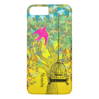 Whimsical Tree Birdcage Colorful Musical Tree iPhone 7 Plus Case