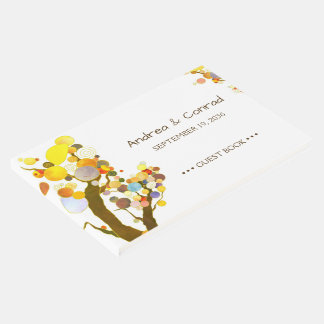 Whimsical Trees Trendy Outdoor Wedding Guest Book