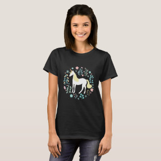 Whimsical Unicorn and Flowers T-Shirt