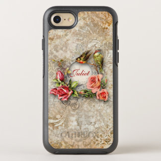 Whimsical Vintage Floral Collage OtterBox Symmetry iPhone 7 Case