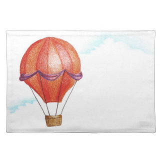 Whimsical Vintage Hot Air Balloon Placemat
