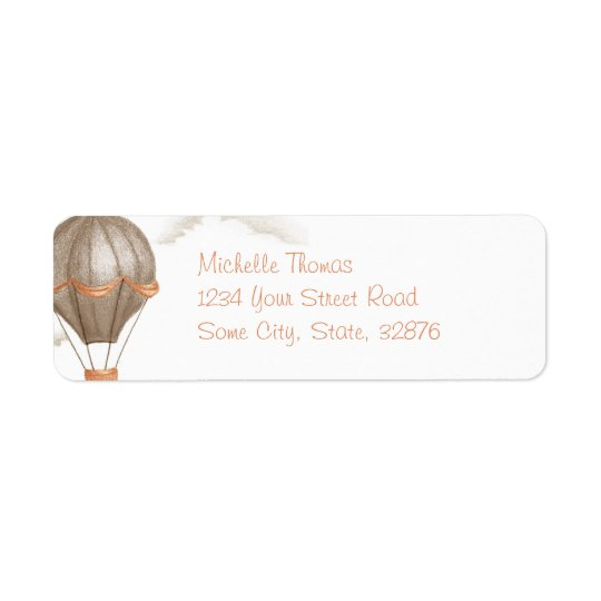 Whimsical Vintage Hot Air Balloon Return Address