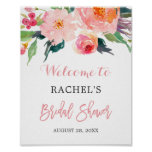 Whimsical Watercolor Floral Bridal Shower Sign