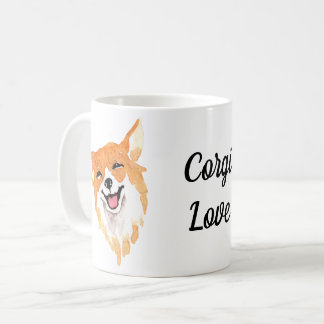 Whimsical Watercolor Print Corgi Coffee Mug
