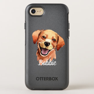 Whimsical Watercolor Print Golden Retriever Dog OtterBox Symmetry iPhone 8/7 Case