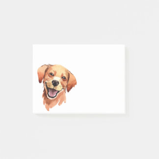 Whimsical Watercolor Print Golden Retriever Dog Post-it Notes