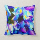 Whimsical Watercolor Purple Iris Throw Pillow