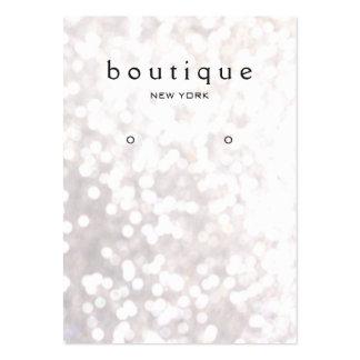 Whimsical White Bokeh Earring Display Card Large Business Card