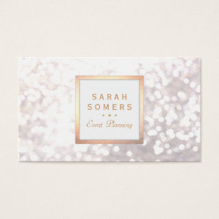Whimsical business cards business card printing zazzle ca whimsical white glitter bokeh elegant gold frame business card colourmoves