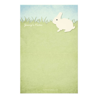 Whimsical White Rabbit Stationery