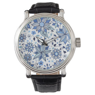 Whimsical Winter Love Flowers Watch