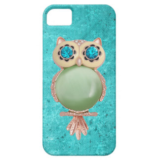 Whimsical Winter Printed Image Owl Jewel Case For The iPhone 5