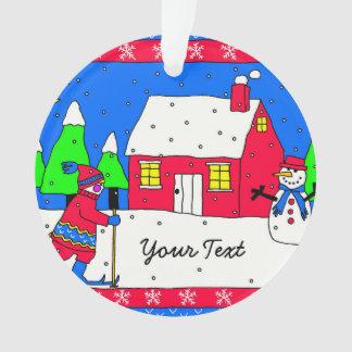 Whimsical Winter Wonderland Scene Ornament