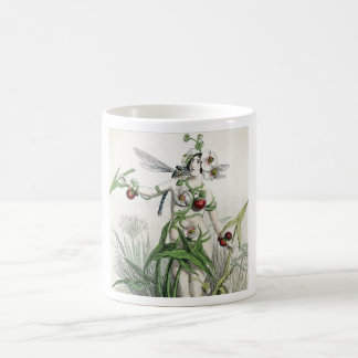 Whimsical Woman And Creatures In Pond Coffee Mug