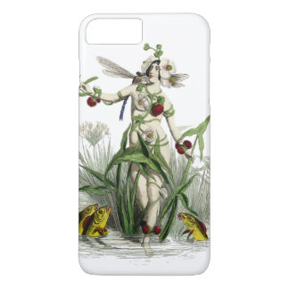 Whimsical Woman And Creatures In Pond iPhone 8 Plus/7 Plus Case