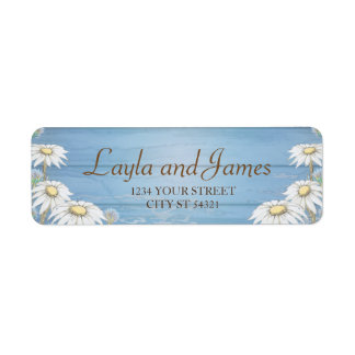 Whimsical Wood Daisy Address Labels