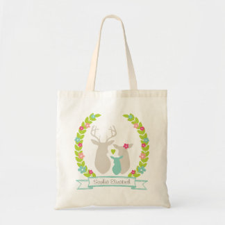 Whimsical Woodland Deer Family Baby Shower Favor Tote Bag