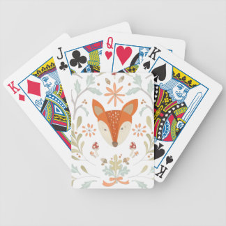 Whimsical Woodland Fox Bicycle Playing Cards