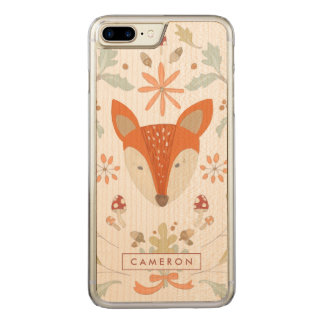 Whimsical Woodland Fox Carved iPhone 8 Plus/7 Plus Case