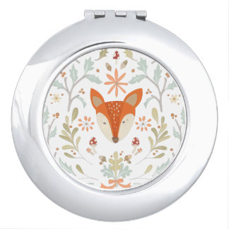 Whimsical Woodland Fox Makeup Mirror