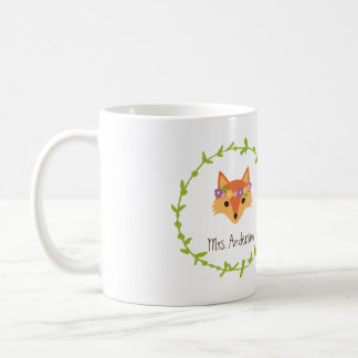 Whimsical Woodland Foxes Mr. and Mrs. Bride's Classic White Coffee Mug