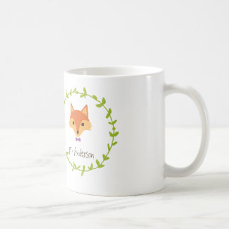 Whimsical Woodland Foxes Mr. and Mrs. Groom's Classic White Coffee Mug